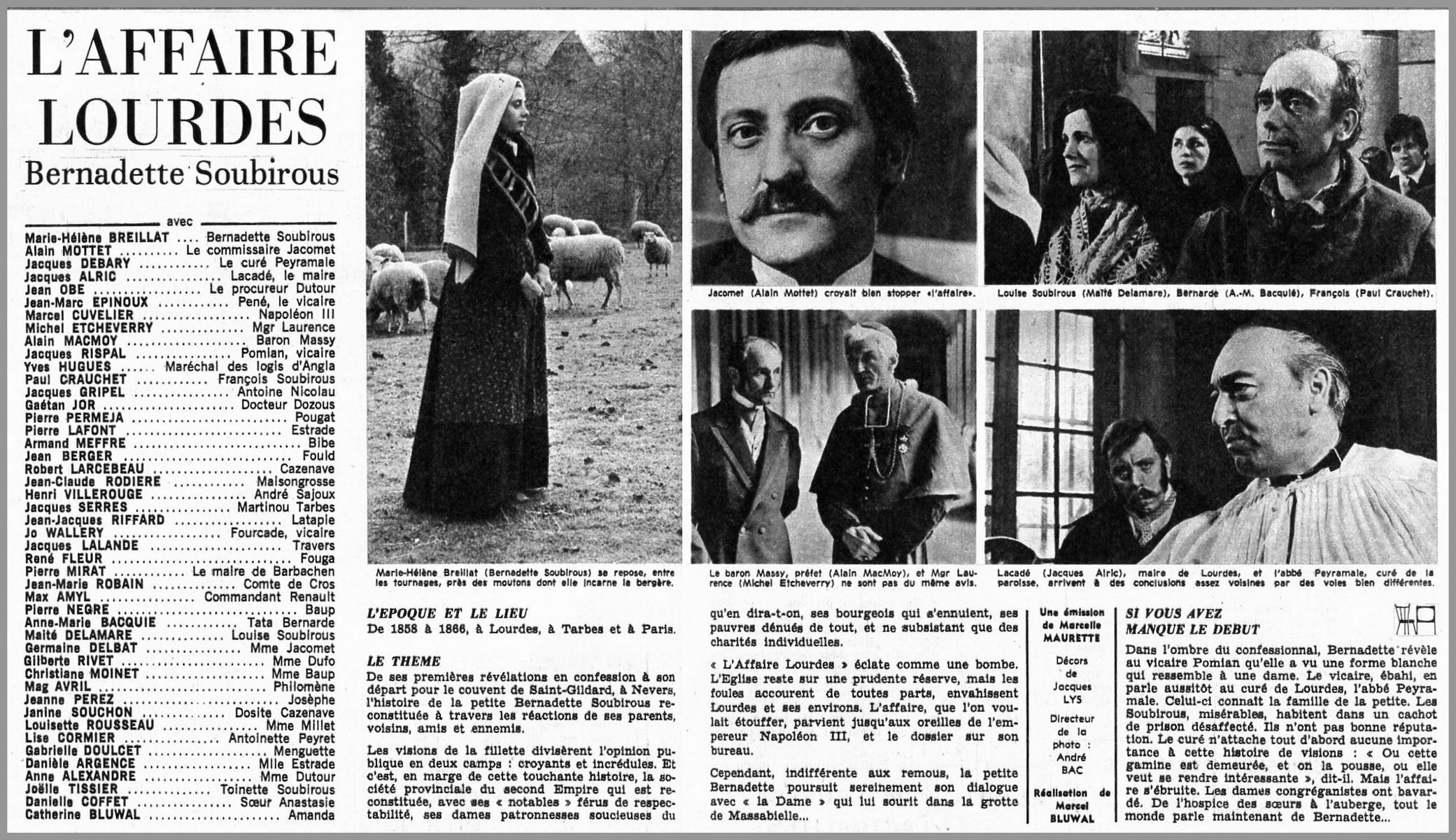A TÉLÉCHARGER BERNADETTE FILM DE GRATUIT SOUBIROU