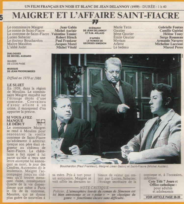 TÉLÉCHARGER MAIGRET ET LAFFAIRE SAINT-FIACRE