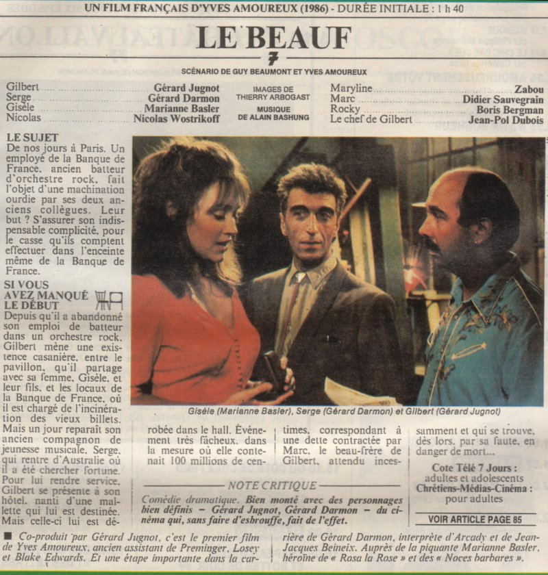 AVEC JUGNOT LE GERARD LE FILM TÉLÉCHARGER BEAUF